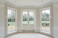 White Bay Windows And French Doors Stock Photo & More ...