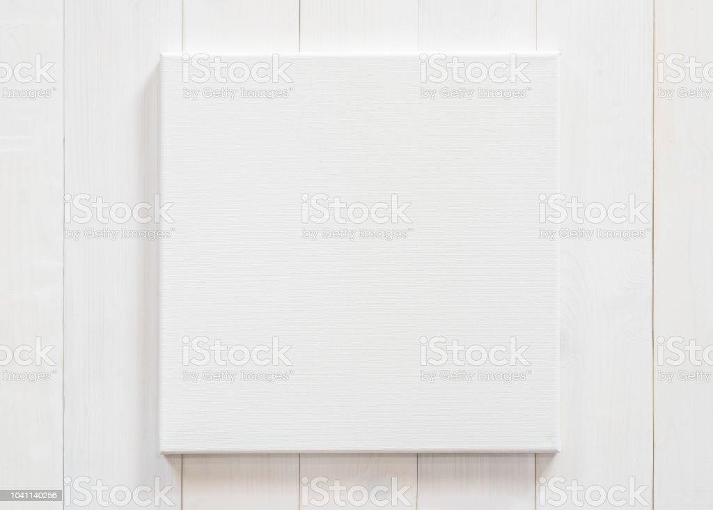 white canvas frame mock