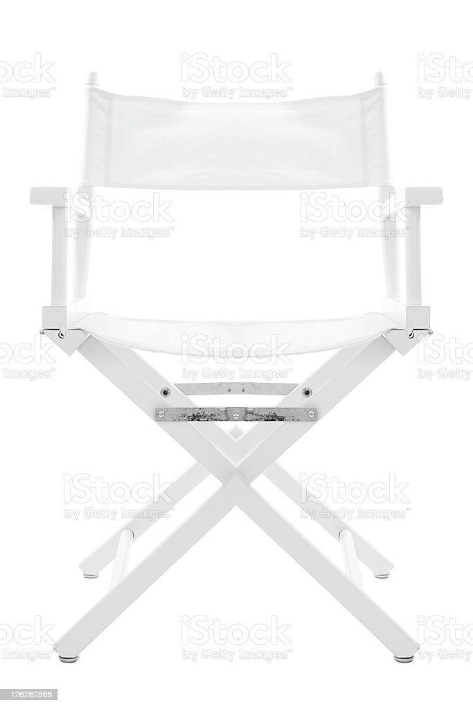 directors chair white chairs with ottomans isolated on path stock photo more image