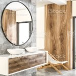 White Double Bathroom Sink Side View Marble Wood Stock Photo Download Image Now Istock