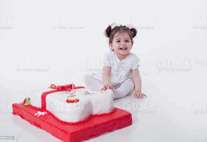White Girl Princess With Birthday Cake Stock Photo More Pictures