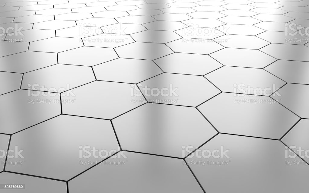 white glossy hexagon ceramic tile floor background 3d rendering stock photo download image now istock