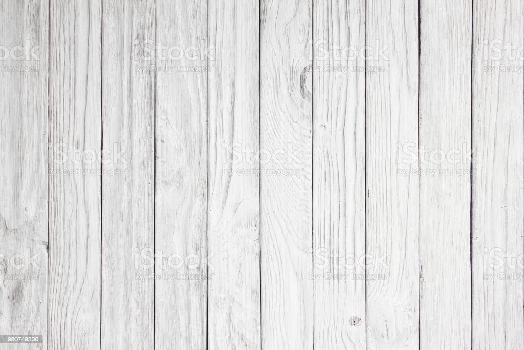 White Wood Panel Background Ready For Product Display