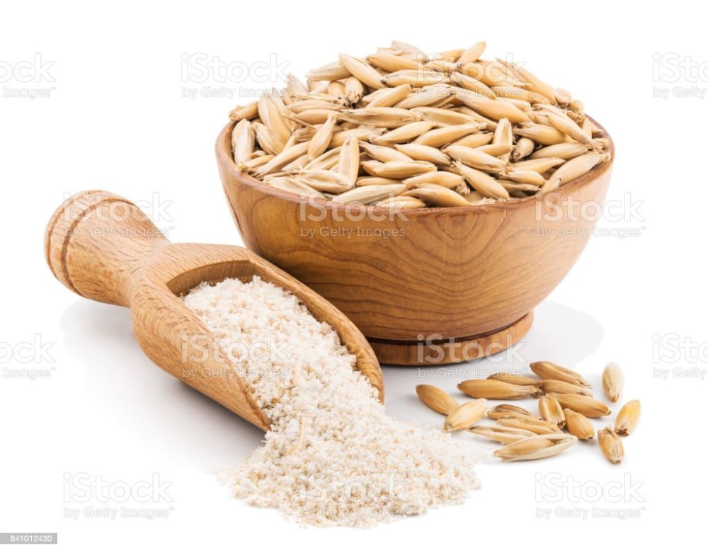 medium resolution of whole grain oat flour isolated on white royalty free stock photo