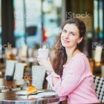 Woman Drinking Coffee In Outdoor Cafe Or Restaurant Paris France Stock Photo Download Image Now Istock
