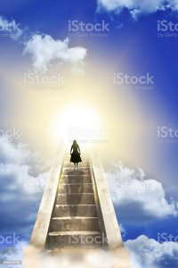 Woman On A Stairway To Heaven Stock Photo & More Pictures ...