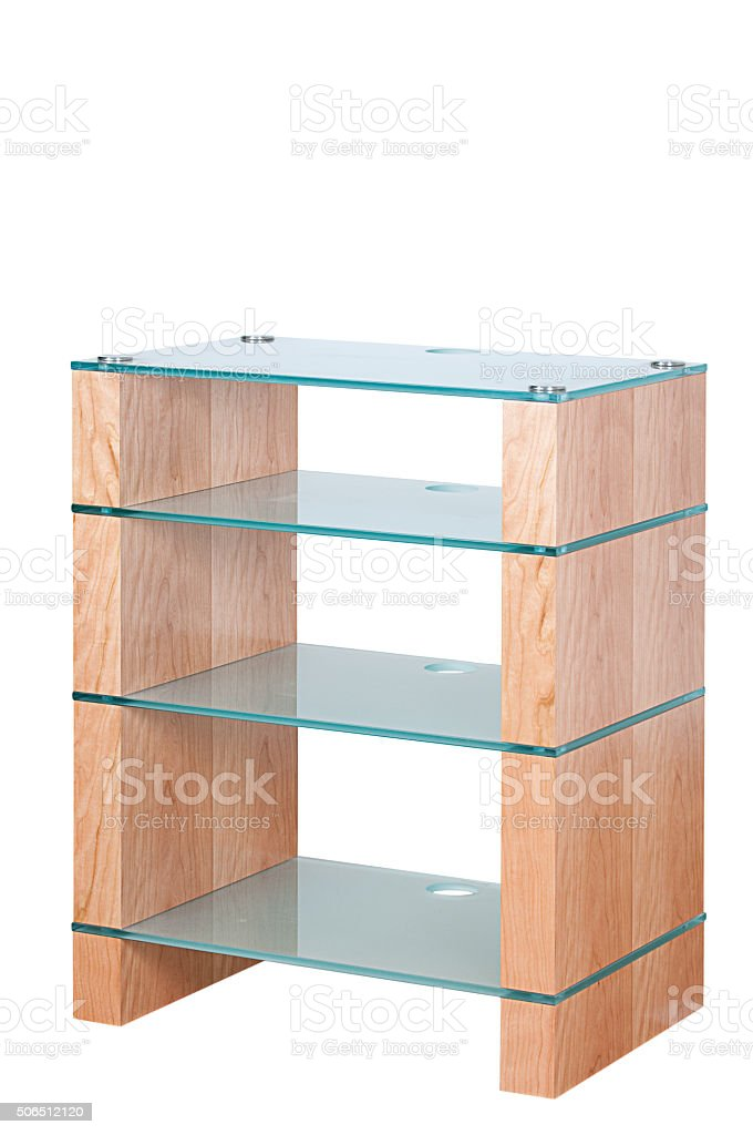photo libre de droit de hifi meuble de rangement en bois et verre ou restez debout isole sur fond blanc banque d images et plus d images libres de droit de arts culture et