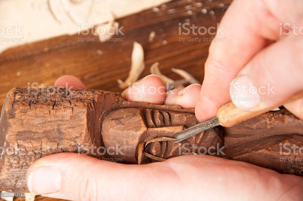 Wood Sculpting Stock Photo Download Image Now Istock