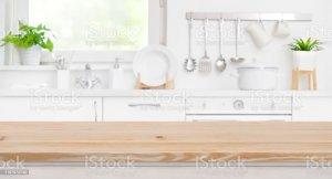 kitchen blur window wood counter bois fond della dessus floue tache cuisine appoggio piano sfuocatura stanza legno cucina fondo sul
