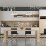 Holz Und Weisse Moderne Kuche Stockfoto Und Mehr Bilder Von Architektur Istock