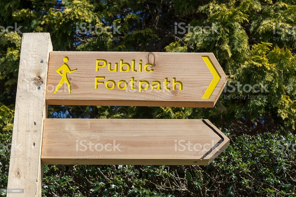 wooden directional sign with