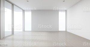 empty background wall studio door glass office modern window