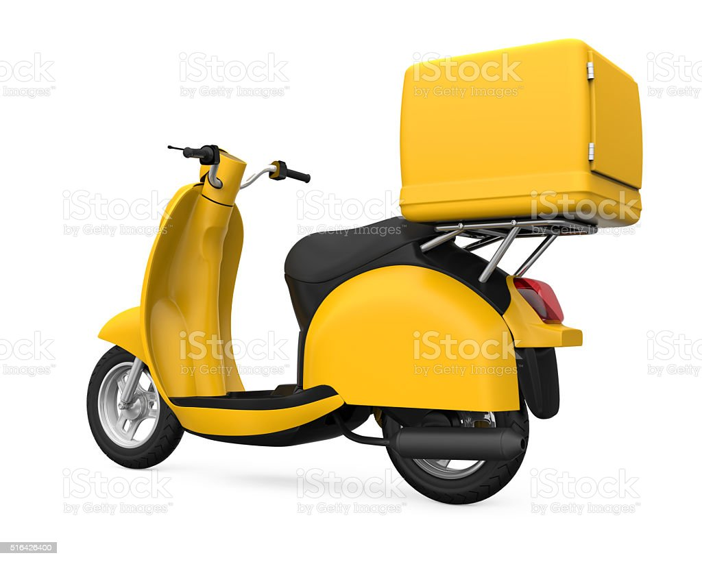 It allows you to add on it the necessary design, create. Yellow Motorcycle Delivery Box Stock Photo Download Image Now Istock