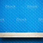 Yellow Stone Rock Shelf Counter On Blue Rubber For Product Display Stock Photo Download Image Now Istock