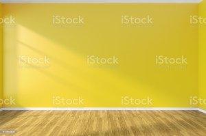 empty yellow floor wall corner wooden parquet walls minimalist window illustration interior royalty