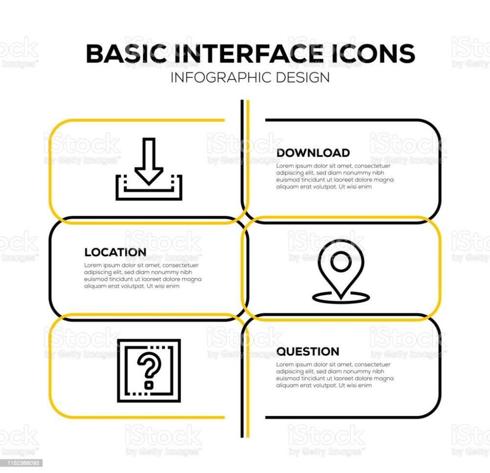 medium resolution of basic interface icon set royalty free basic interface icon set stock vector art amp