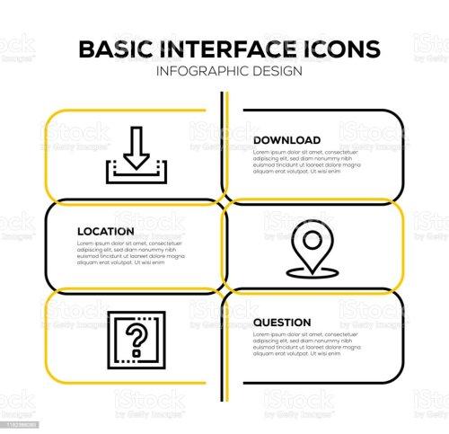small resolution of basic interface icon set royalty free basic interface icon set stock vector art amp