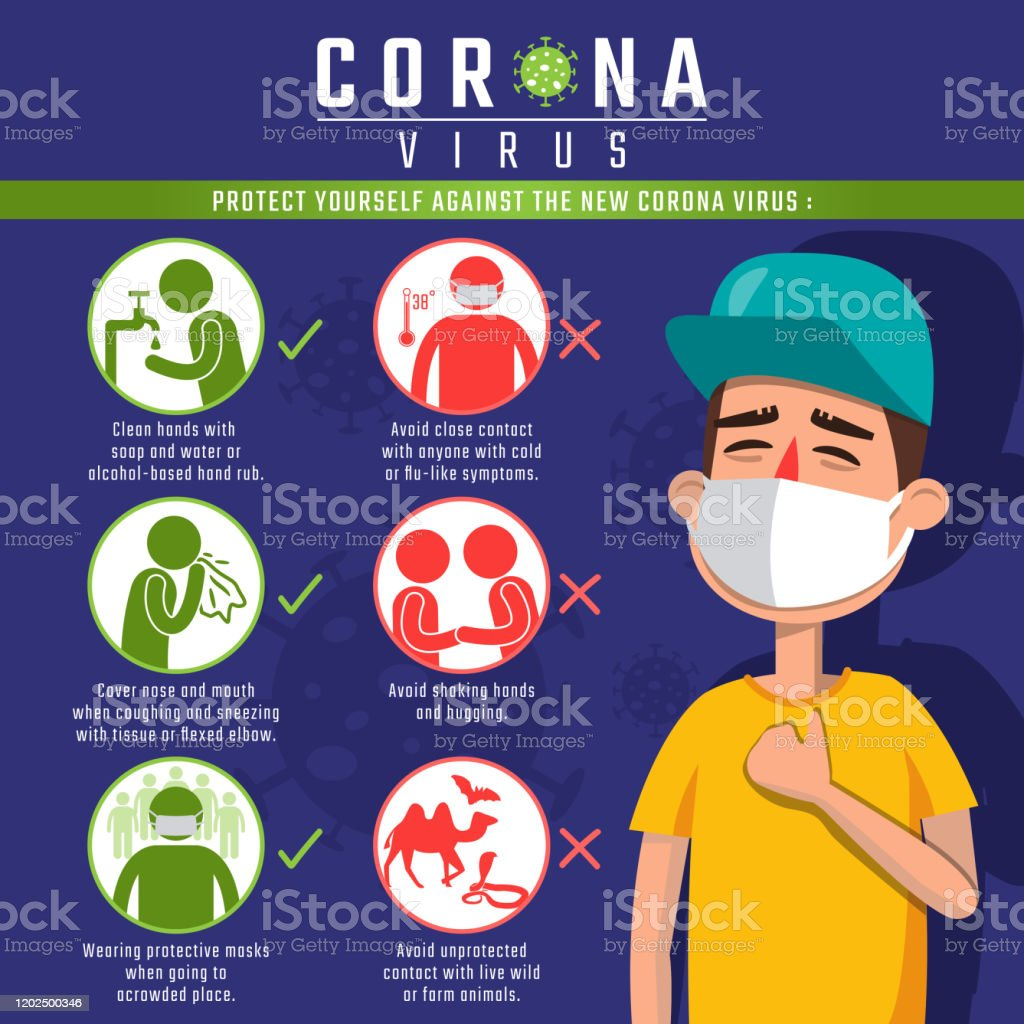 Protect From The New Corona Virus Stock Illustration - Download ...