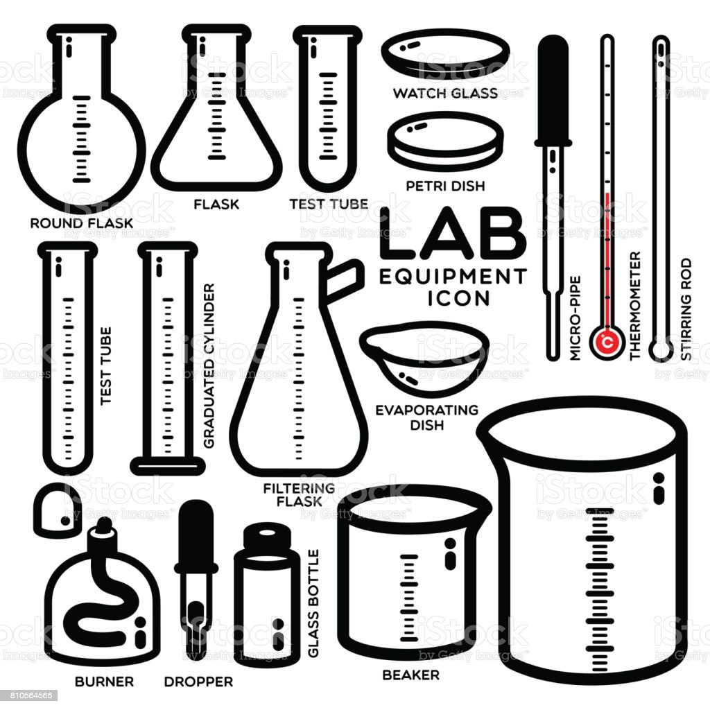 Lab Equipment Icon Stock Vector Art & More Images of