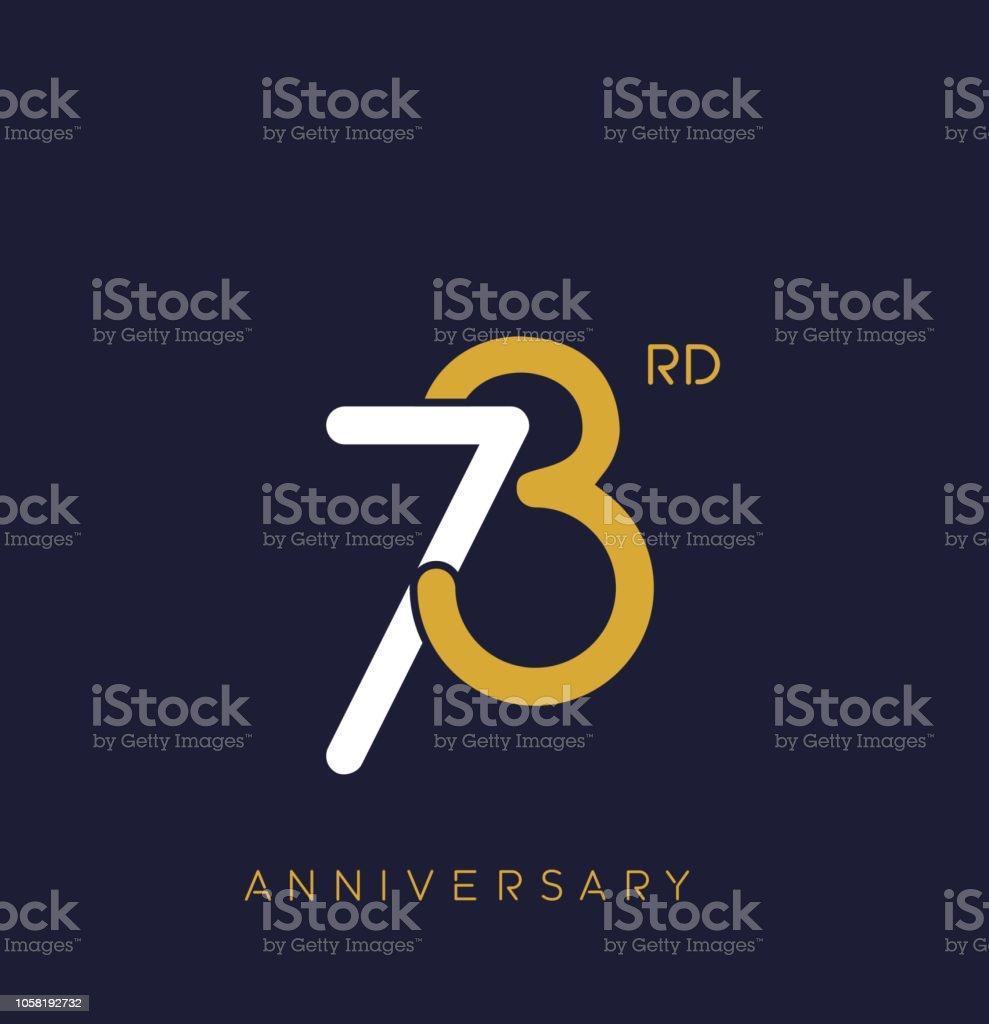 https www istockphoto com fr vectoriel 73 c3 a8me anniversaire logo overlapping num c3 a9ro avec la couleur du monogramme simple gm1058192732 282803227