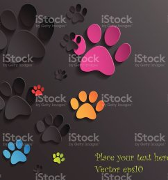 abstract 3d cat paws background illustration  [ 1024 x 925 Pixel ]