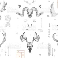 Animal Skull Diagram Plug Power Q2 Royalty Free Clip Art Vector Images Illustrations Abstract Background Line Collection Antlers Isolated