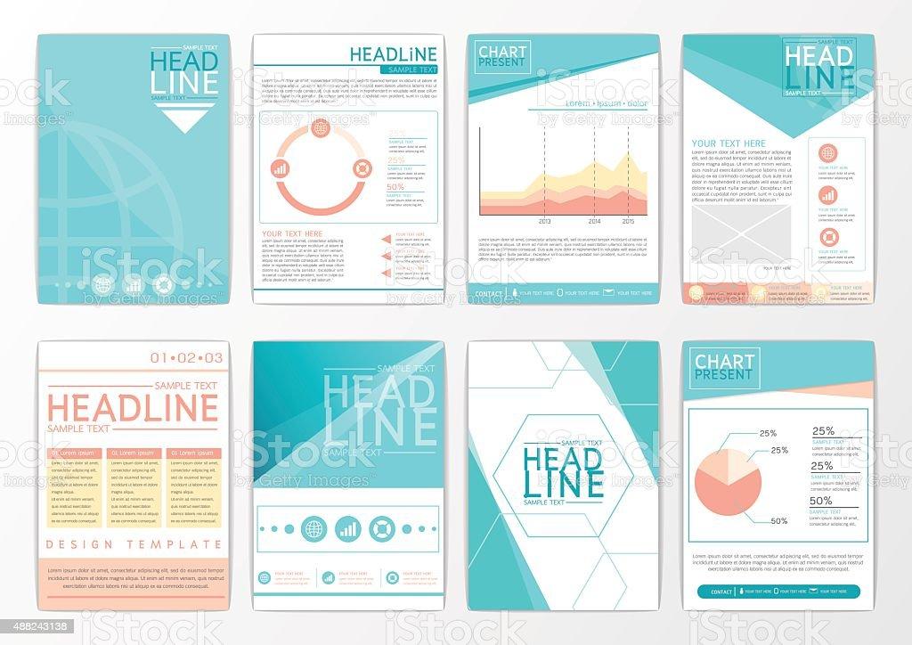Abstract Background Design Business Brochure Big Set Flyer Marketing ...