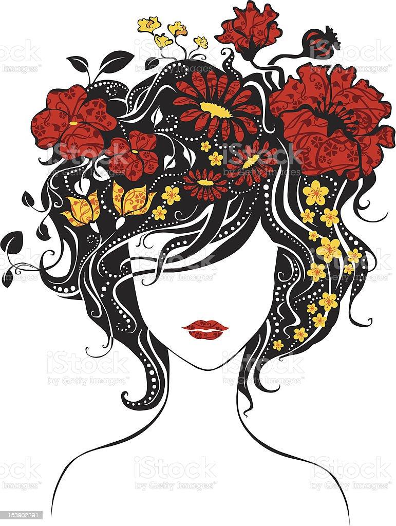 natural hair black woman illustrations