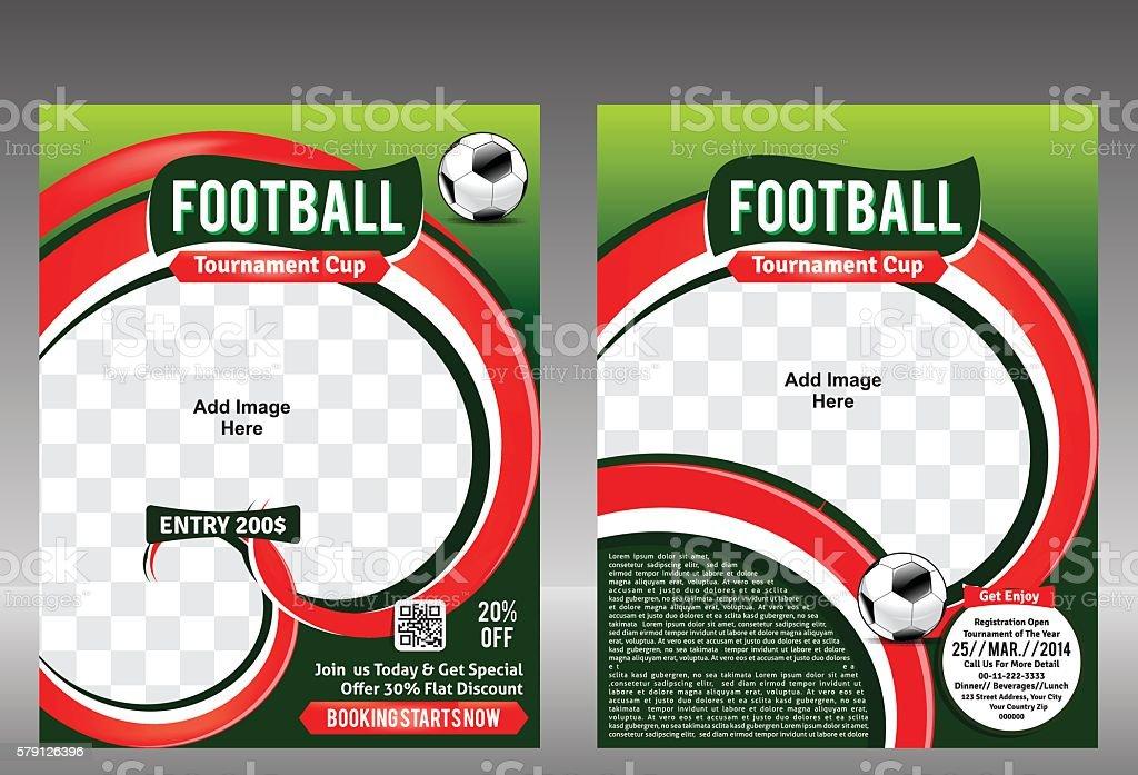 Abstract Football Flyer Template Design Stock Vector Art & More ...