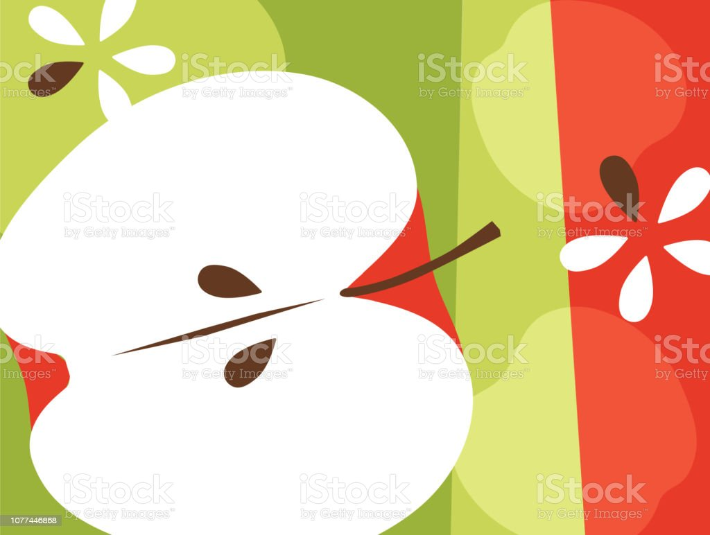 red apple illustrations royalty-free
