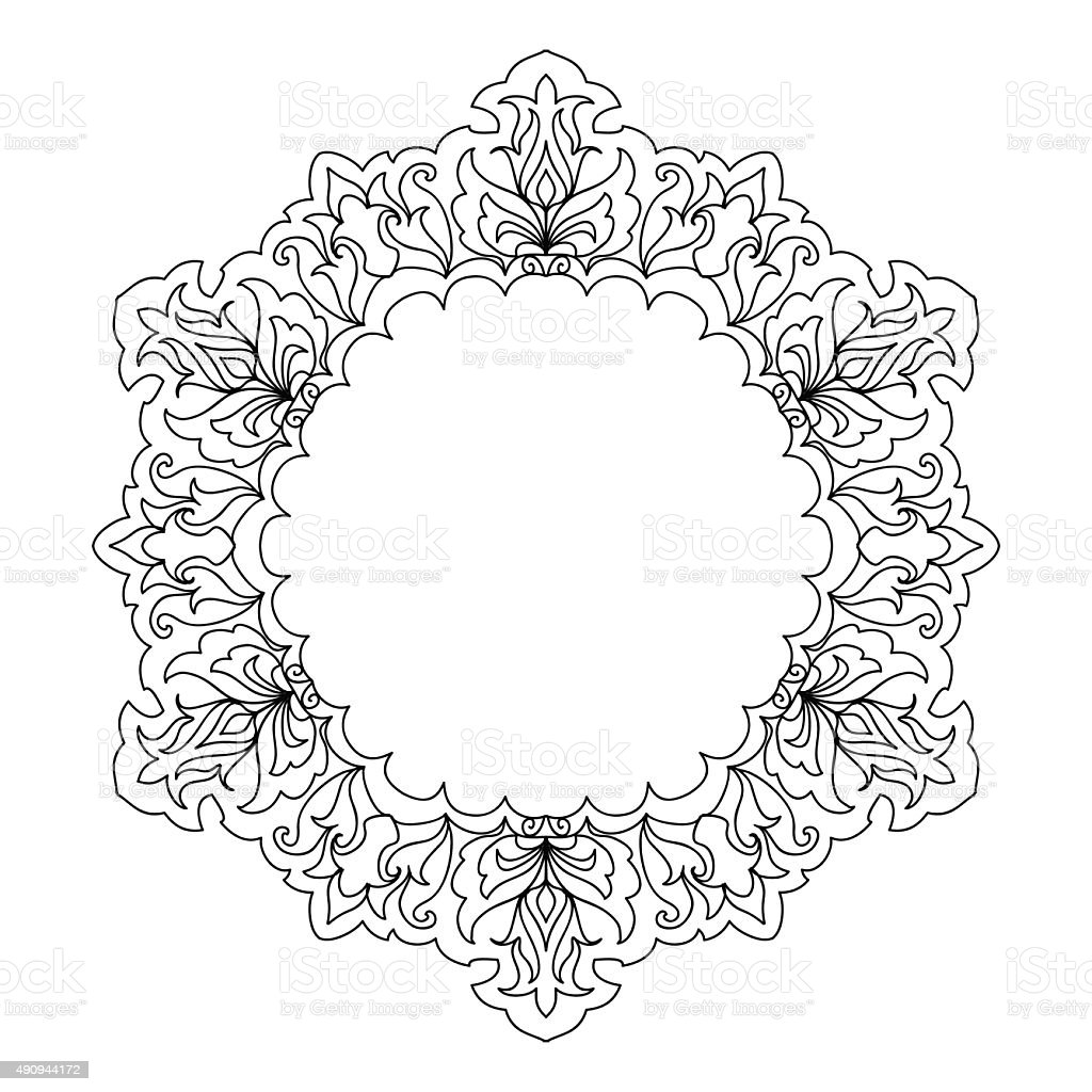 Abstract Mandala Frame Mehndi Elements Stock Vector Art