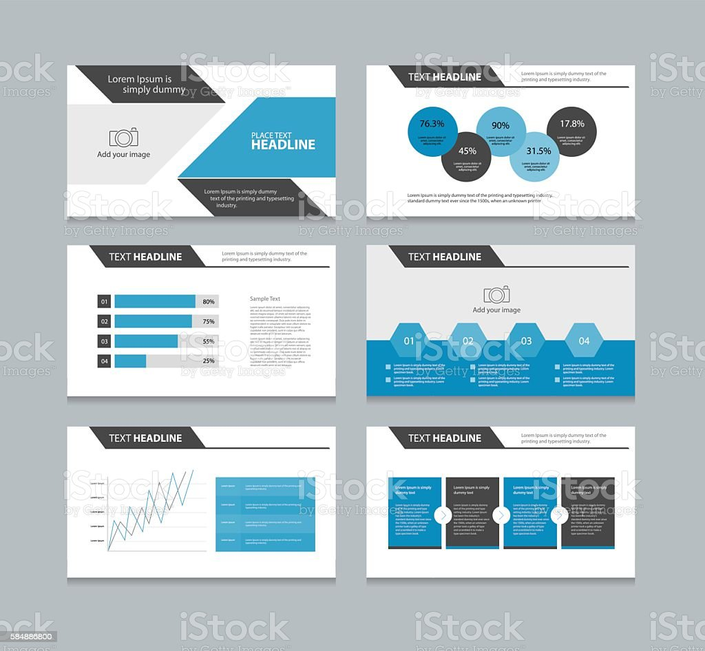 Abstract Page Presentation Template With Info Graphic Elements Design  Royalty-Free Abstract Page Presentation Template
