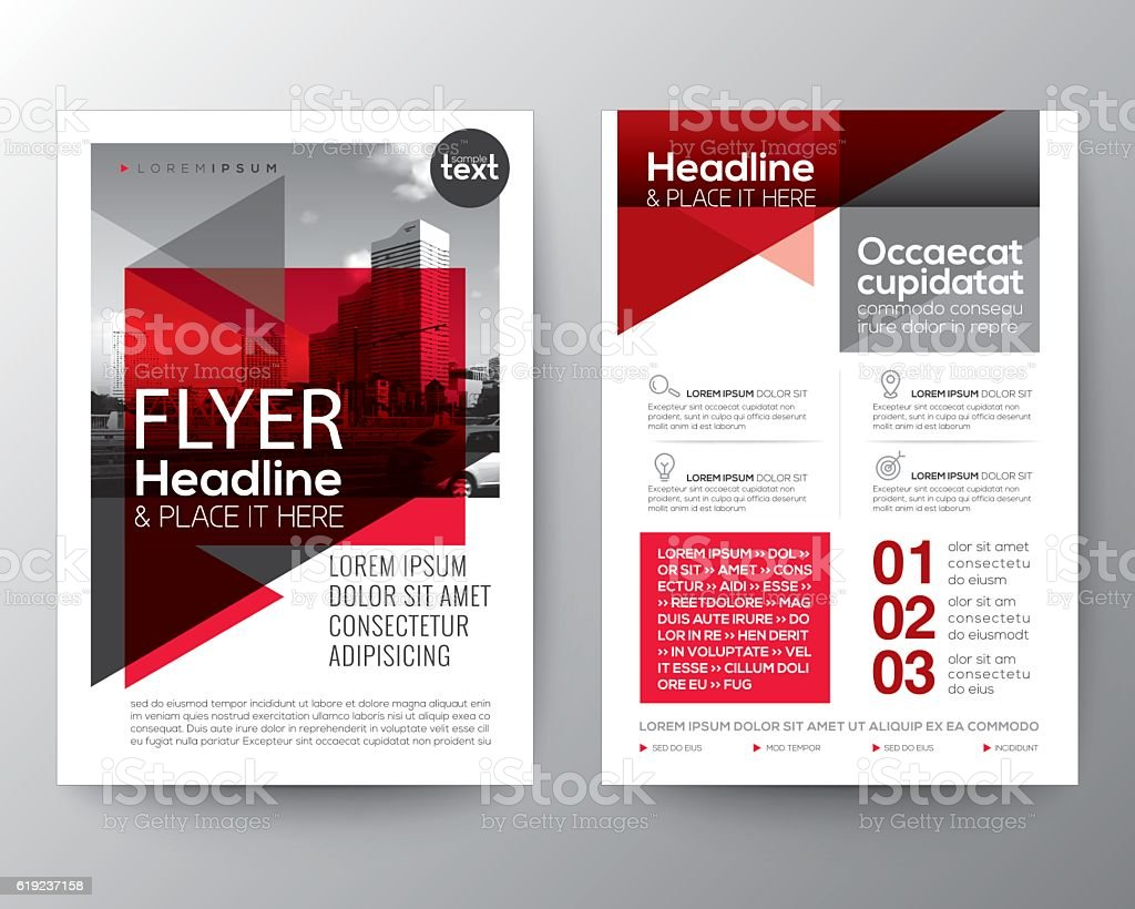 Abstract Red Background For Poster Brochure Flyer Design