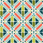 Abstract Seamless Pattern In Midcentury Modern Colors Vector