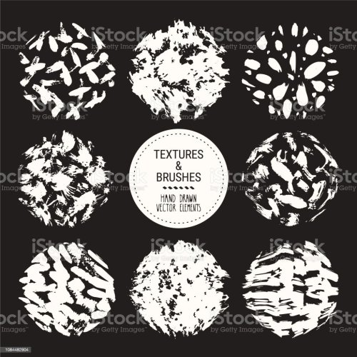 small resolution of abstract textures grunge brush strokes hand drawn design template collection abstract vector clipart set isolated on black background illustration