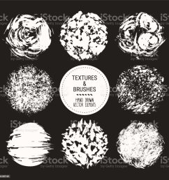abstract textures grunge brush strokes hand drawn design template collection abstract vector clipart set isolated on black background illustration  [ 1024 x 1024 Pixel ]