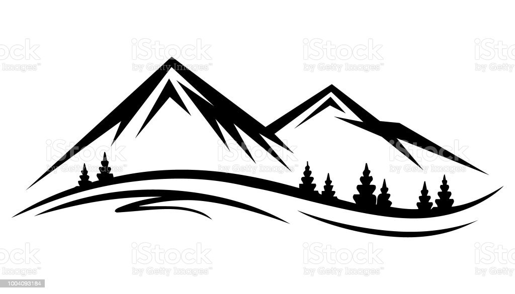 Abstract Vector Nature Or Outdoor Mountain Range