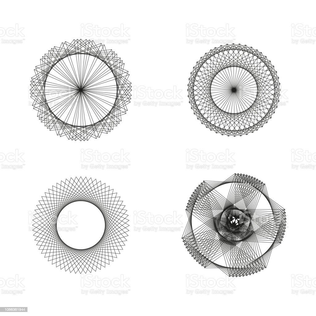 abstract vector sacred geometrical