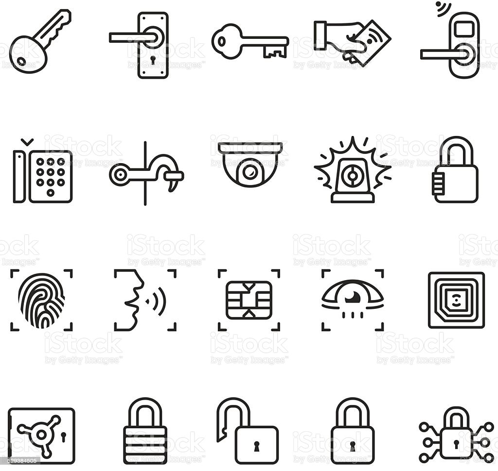 Access Control System Icons Unico Pro Series Stock