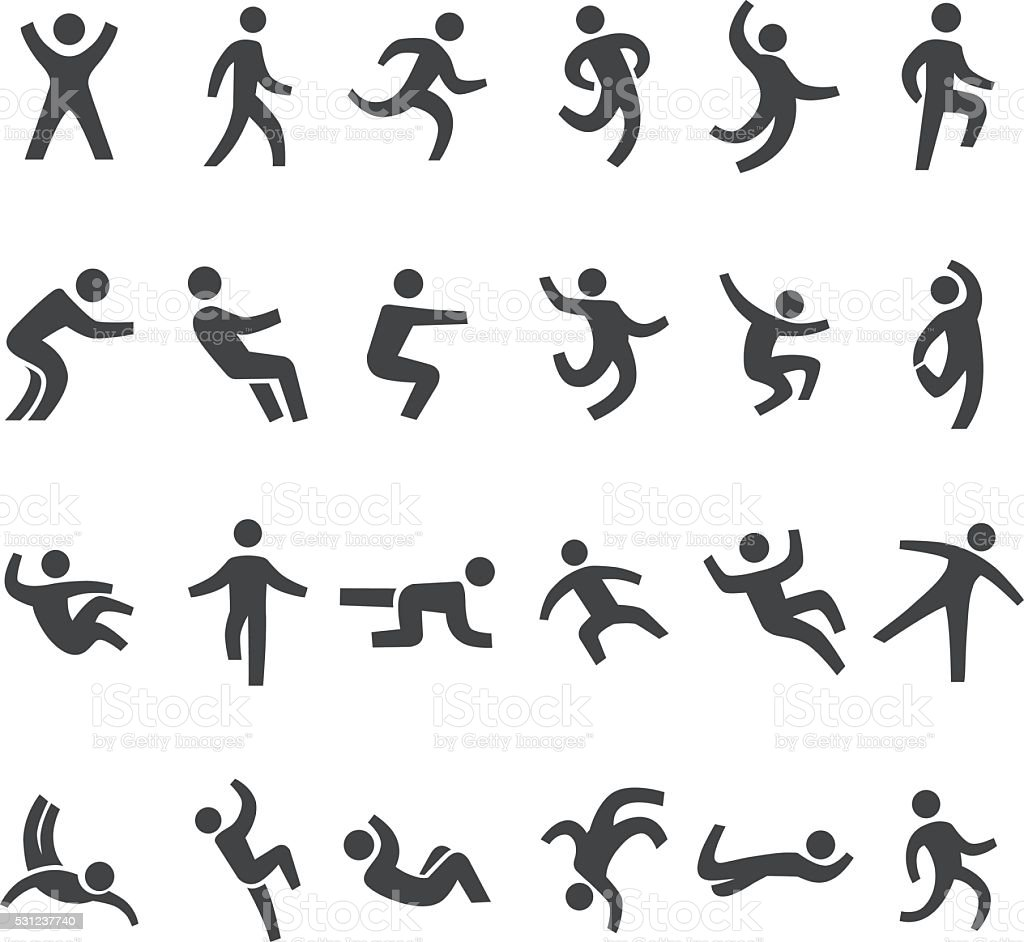 Action And Movement Icons Big Series Stock Illustration
