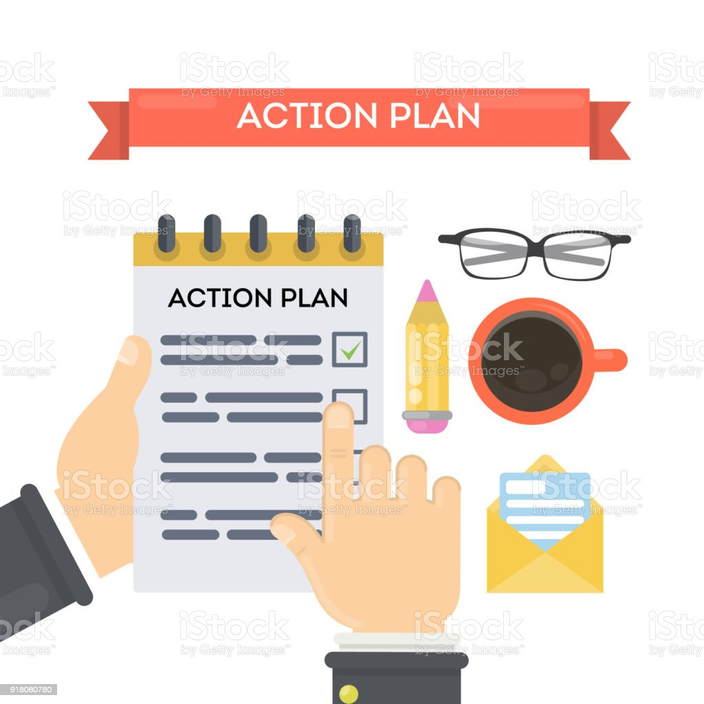 Action Plan Concept Illustration. Royalty-Free Action Plan Concept  Illustration Stock Vector Art &
