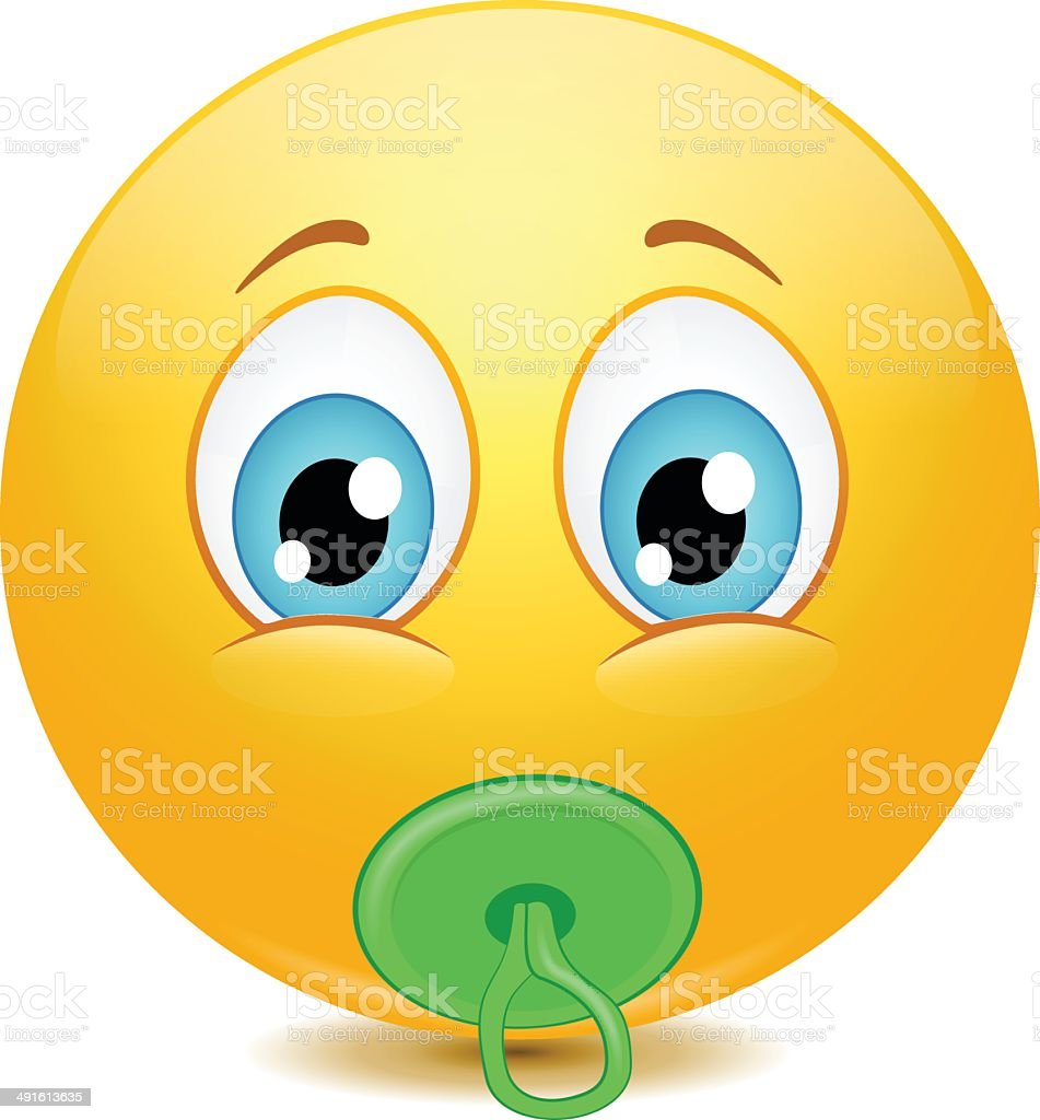adorable baby emoticons stock