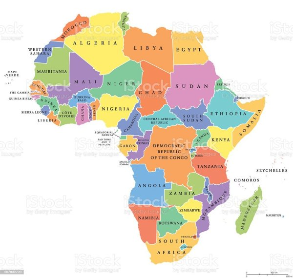 Africa Single States Political Map Stock Vector Art More