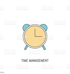 alarm clock colorful line icon alarm clock simple icon illustration line icon useful for web mobile software apps eps 10 illustration  [ 1024 x 1024 Pixel ]