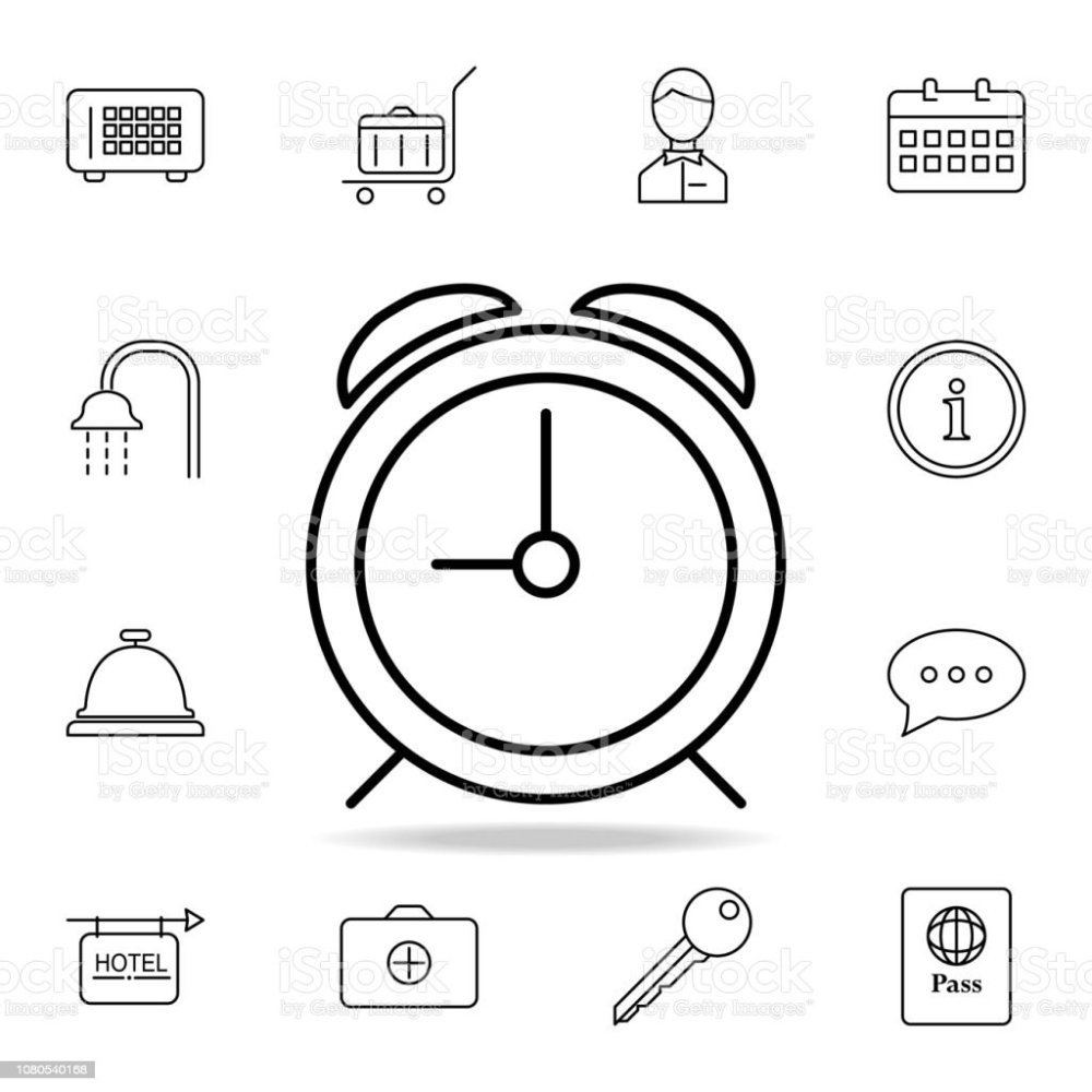 medium resolution of alarm clock icon element of simple icon for websites web design mobile app info graphics thin line icon for website design and development
