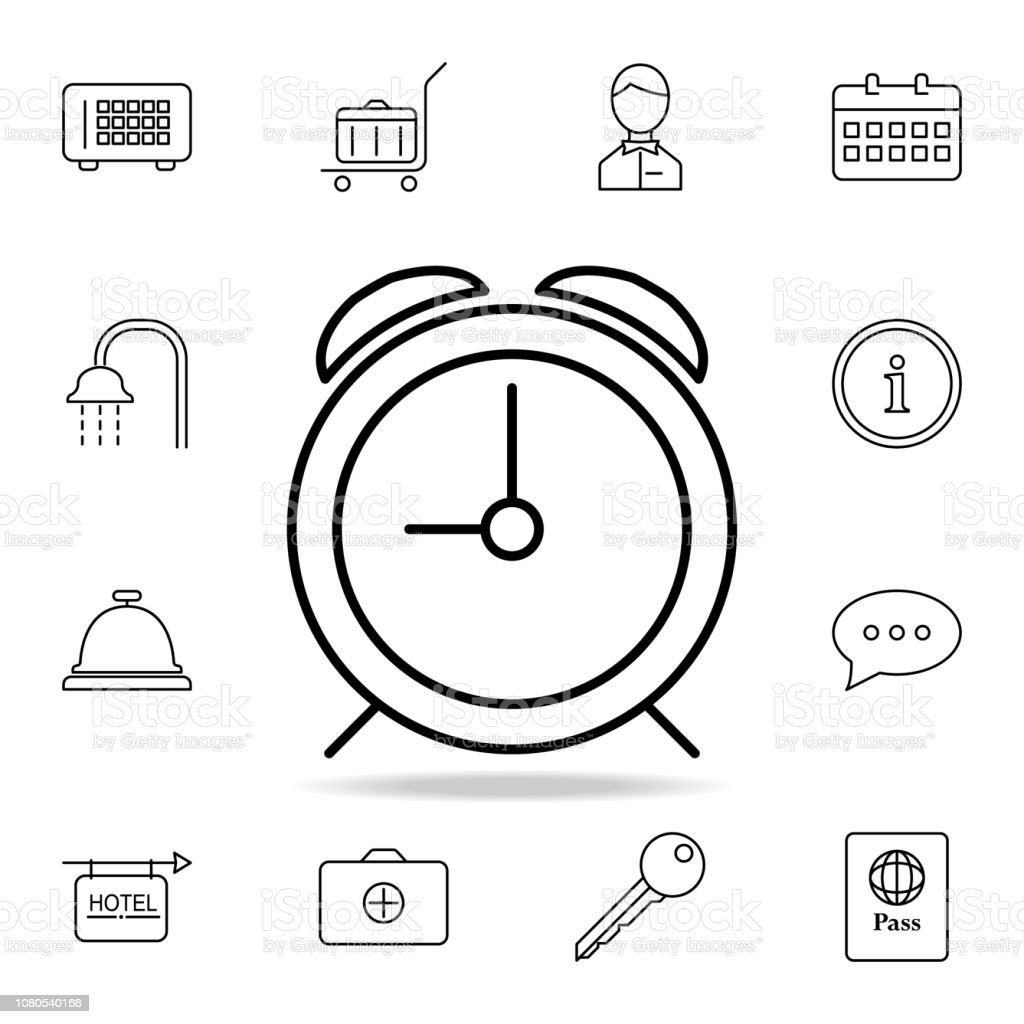 hight resolution of alarm clock icon element of simple icon for websites web design mobile app info graphics thin line icon for website design and development
