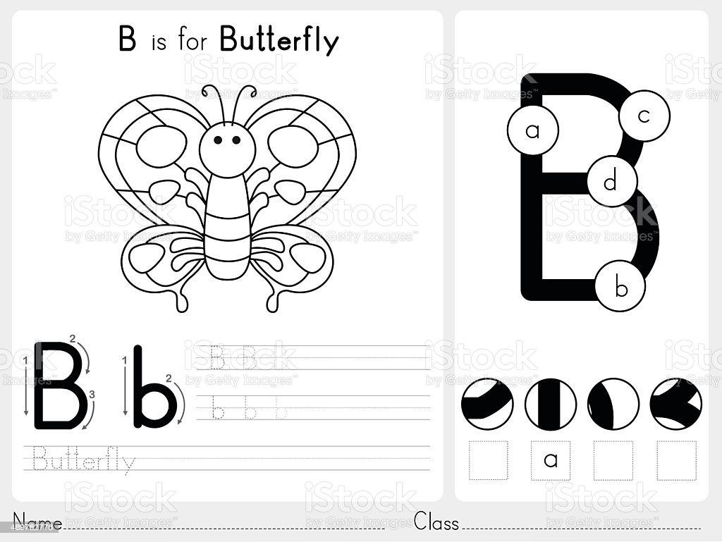 Alphabet Az Tracing And Puzzle Worksheet Stock