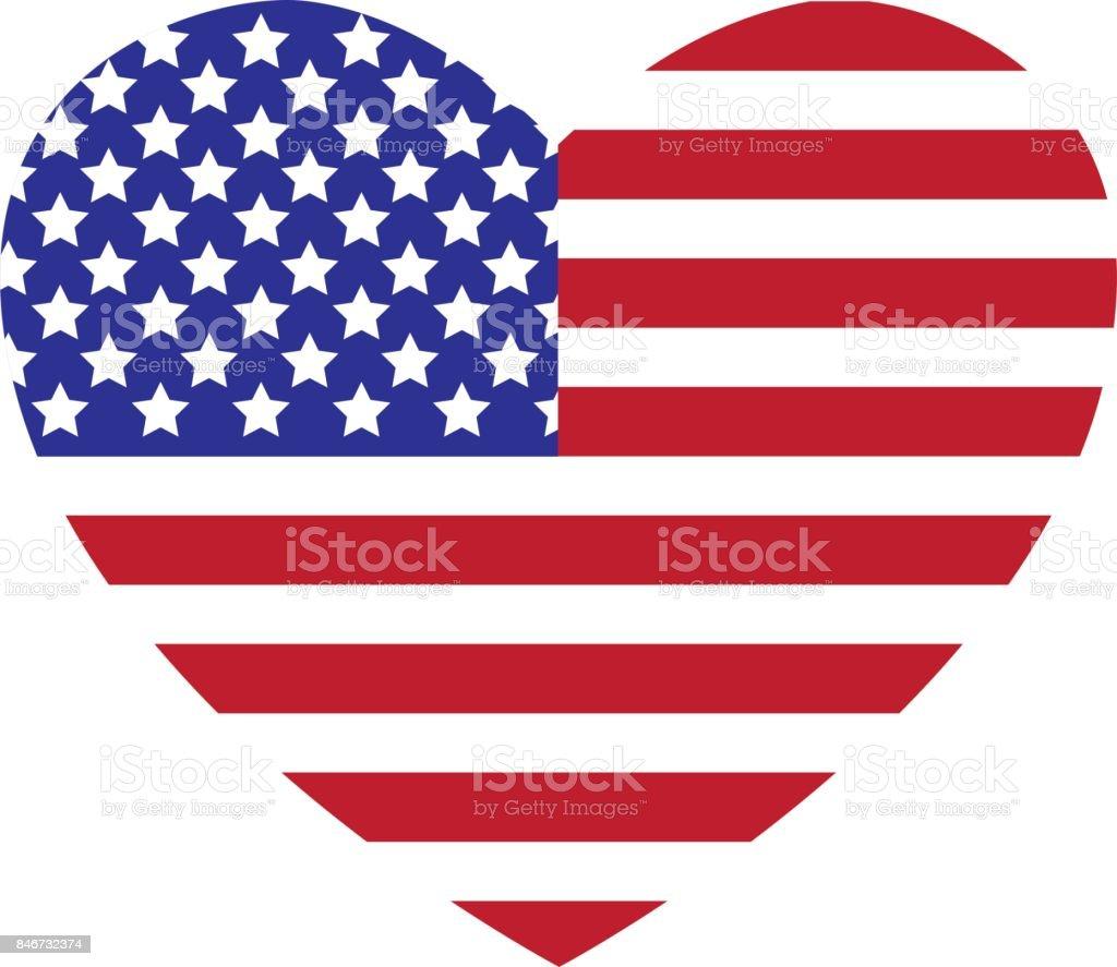 best american flag heart