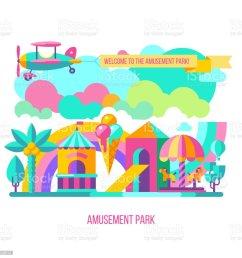 vector clipart royalty free amusement park vector clipart stock vector art [ 1024 x 1024 Pixel ]