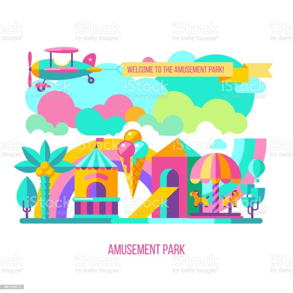 medium resolution of vector clipart royalty free amusement park vector clipart stock vector art